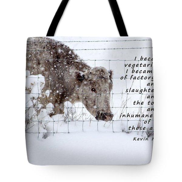 Inhumane Torture Of Animals Tote Bag by Janice Rae Pariza