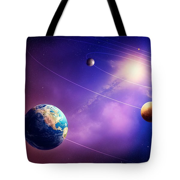 Inner solar system planets Tote Bag by Johan Swanepoel