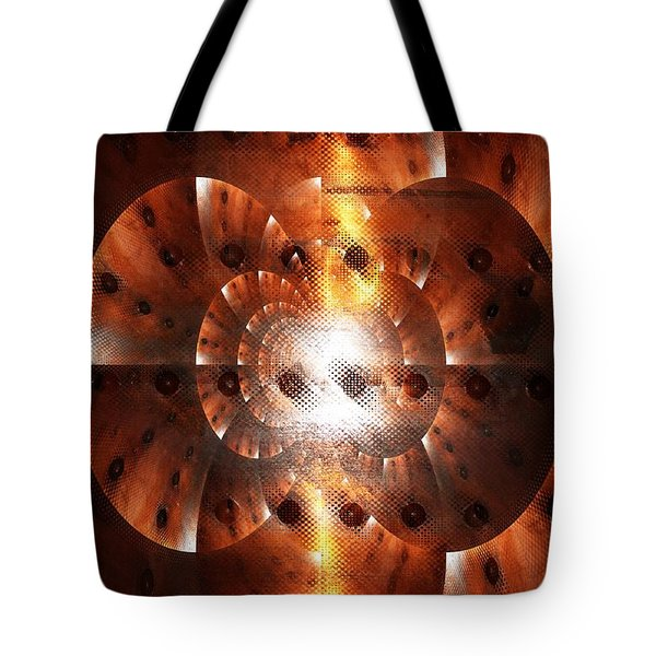 Inner Strength - Abstract Art Tote Bag by Carol Groenen