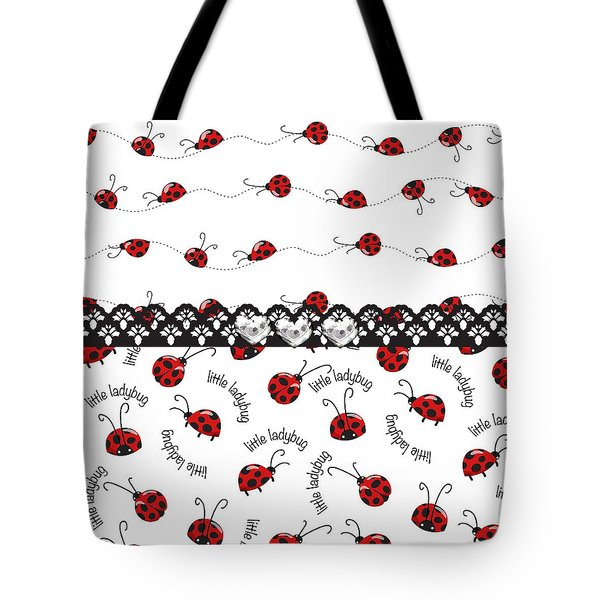 Innocent Ladybugs  Tote Bag by Debra  Miller