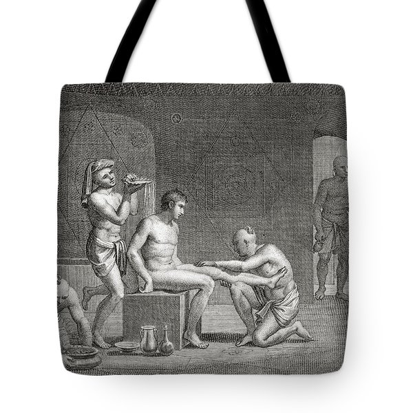 Inside An Egyptian Bathhouse, C.1820s Tote Bag by Dominique Vivant Denon