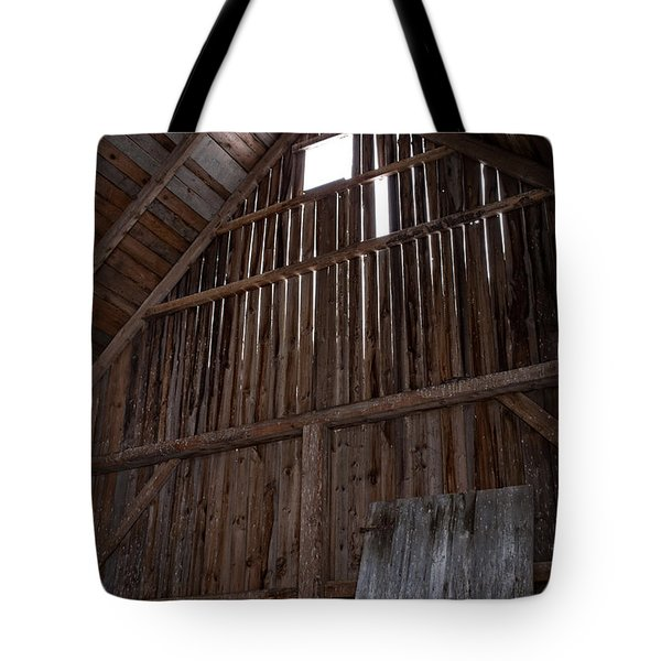 Inside An Old Barn Tote Bag by Edward Fielding