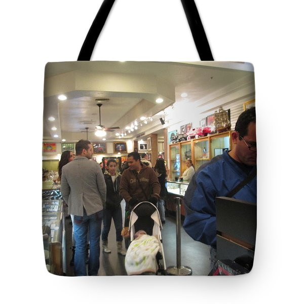 Inside World Famous Pawn Shop Tote Bag by Kay Novy