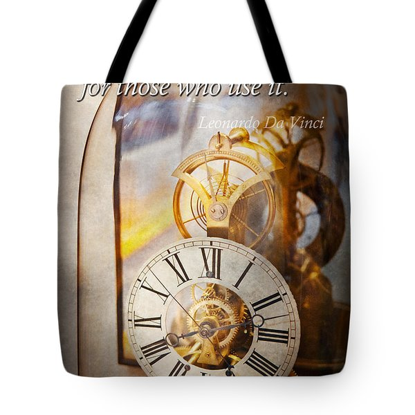 Inspirational - Time - A Look Back In Time - Da Vinci Tote Bag by Mike Savad