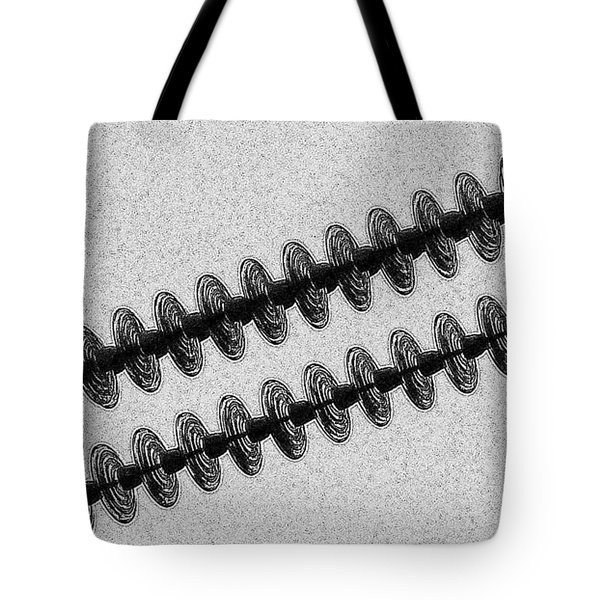 Insulators Hard Bw Tote Bag by Chalet Roome-Rigdon