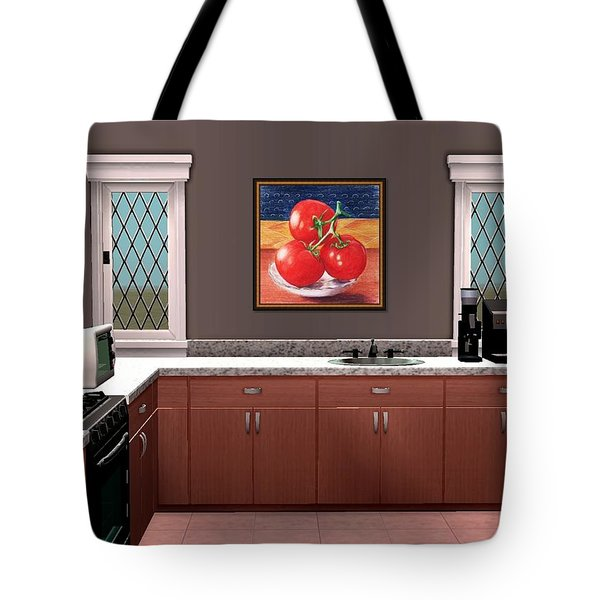 Interior Design Idea - Tomatoes Tote Bag by Anastasiya Malakhova