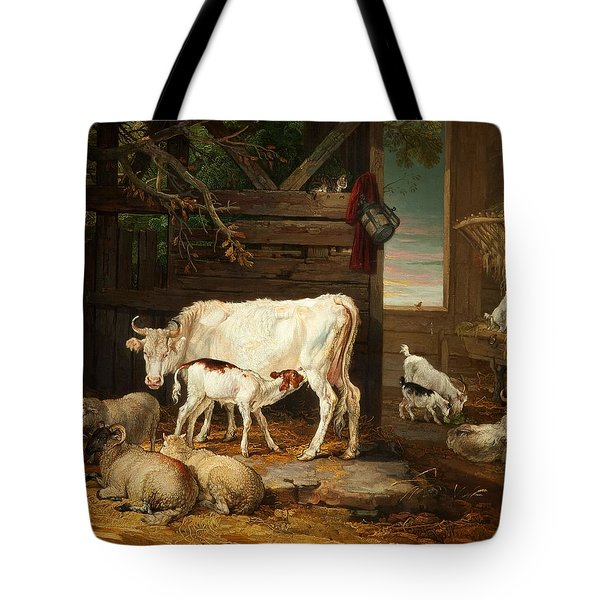 Interior Of A Stable, 1810 Tote Bag by James Ward