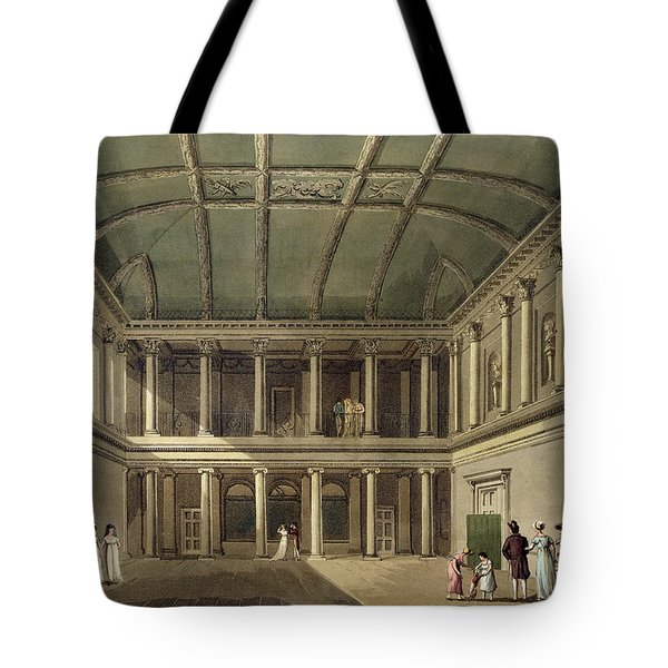 Interior Of Concert Room, From Bath Tote Bag by John Claude Nattes