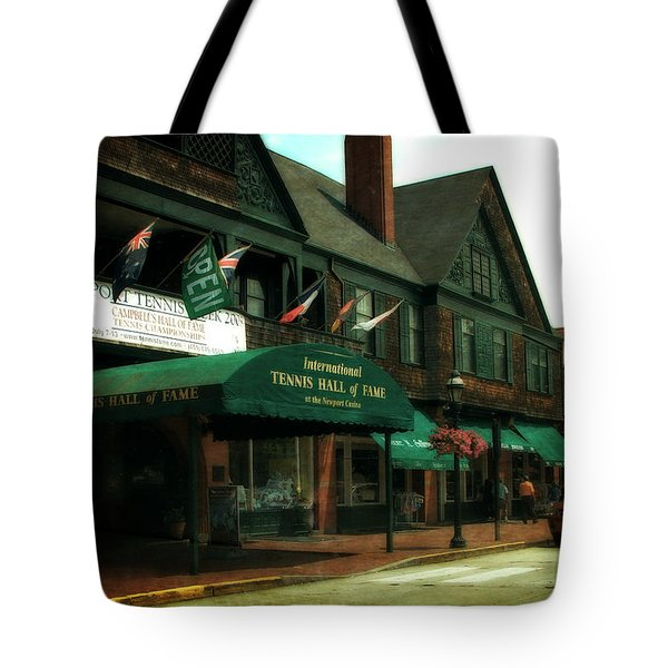 International Tennis Hall Of Fame Tote Bag by Michelle Calkins