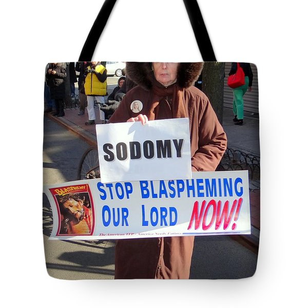 intolerance Tote Bag by Ed Weidman