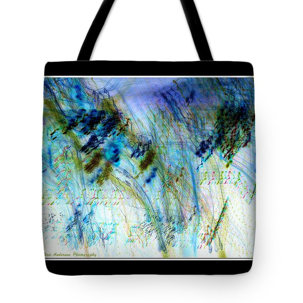 Inverted Light Abstraction Tote Bag by Chris Anderson