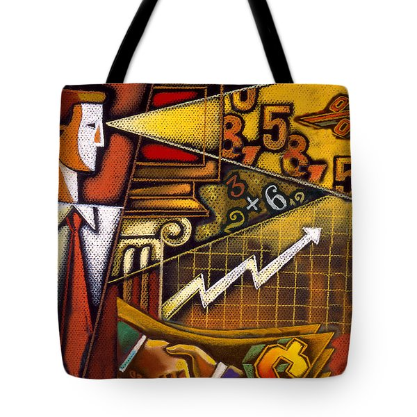 Investor Tote Bag by Leon Zernitsky