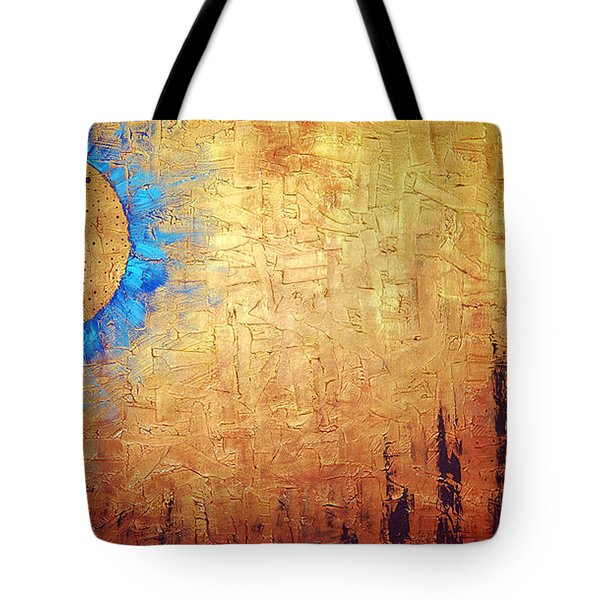 Invisible Blue Sun Tote Bag by Sharon Cummings
