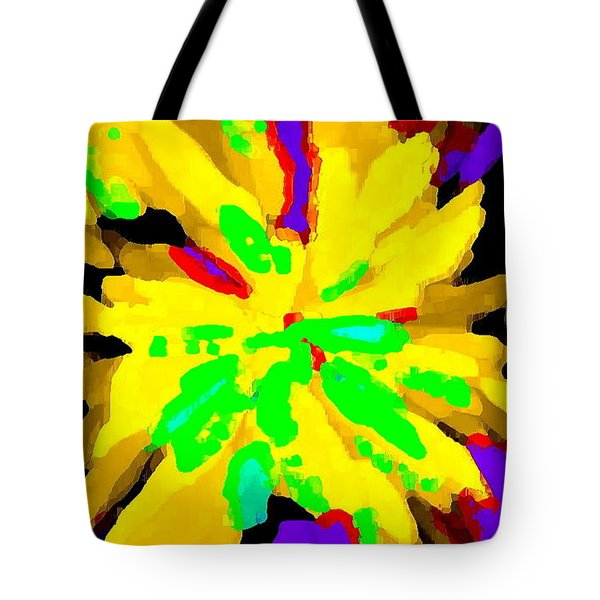 IPHONE CASES COLORFUL FLOWERS ABSTRACT ROSES GARDENIAS TIGER LILY FLORALS CAROLE SPANDAU CBS ART 182 Tote Bag by CAROLE SPANDAU