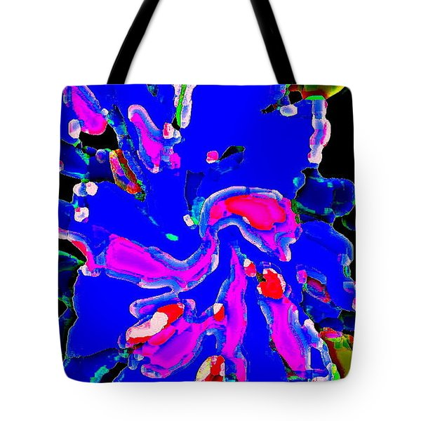 IPHONE CASES COLORFUL FLOWERS THE BLUE DAHLIA ABSTRACT FLORAL ART CAROLE SPANDAU CBS EXCLUSIVES 184 Tote Bag by CAROLE SPANDAU