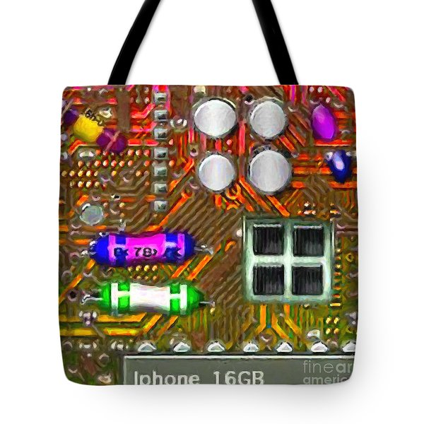 Iphone I-art m118 square Tote Bag by Wingsdomain Art and Photography