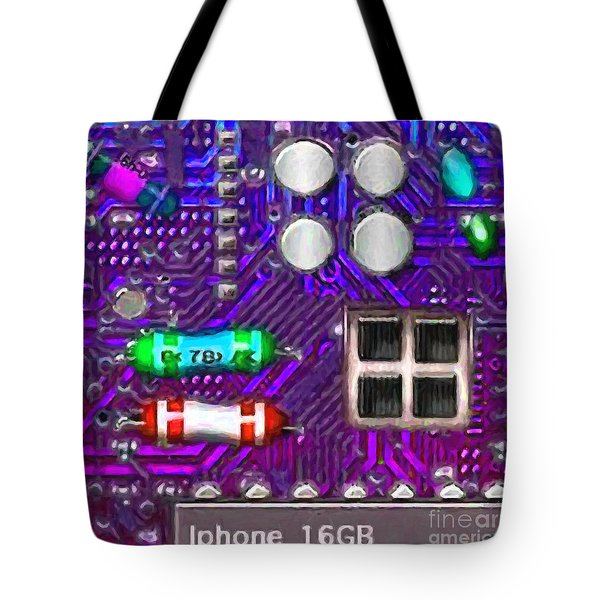 Iphone I-art p128 square Tote Bag by Wingsdomain Art and Photography