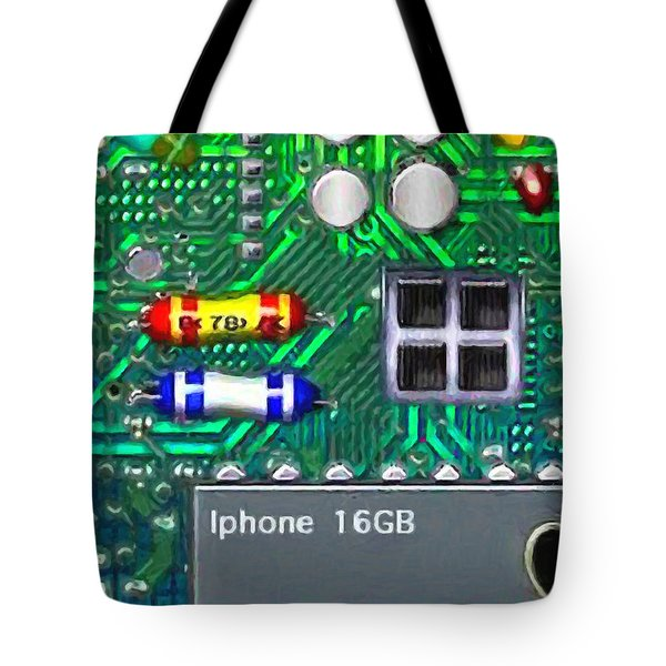 Iphone I-art Tote Bag by Wingsdomain Art and Photography