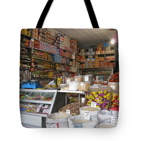 Iran Shiraz Shop Owner Tote Bag by Lois Ivancin Tavaf