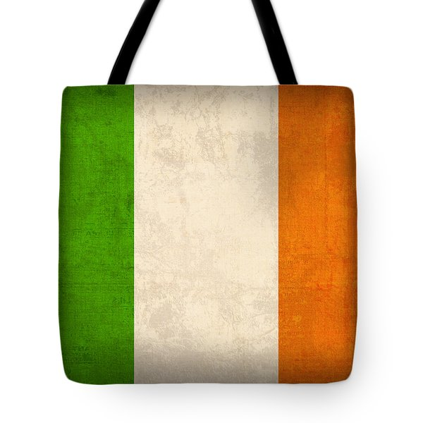 Ireland Flag Vintage Distressed Finish Tote Bag by Design Turnpike