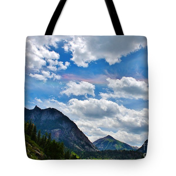 Iridescent Clouds Above Ouray Colorado Tote Bag by Janice Rae Pariza