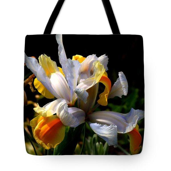 Iris Tote Bag by Rona Black