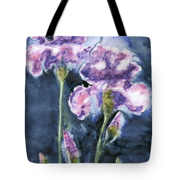 Irises Tote Bag by Marsha Elliott