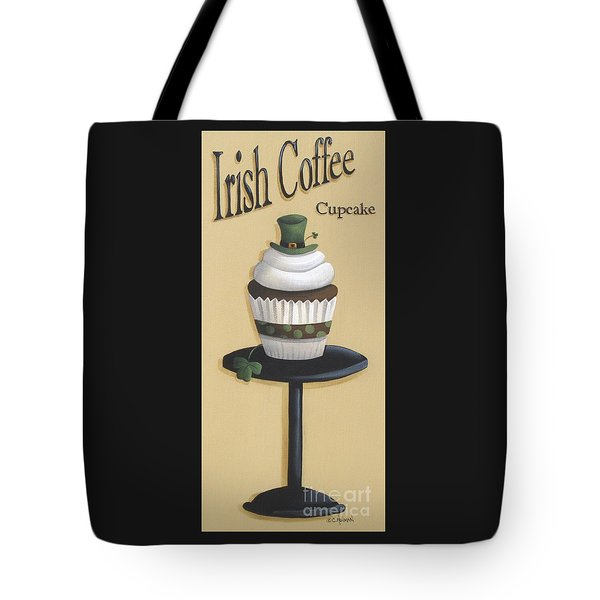 Irish Coffee Cupcake Tote Bag by Catherine Holman