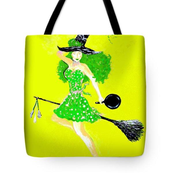 Irish Kitchen Witch Tote Bag by Alys Caviness-Gober