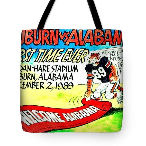 Iron Bowl '89 Tote Bag by Benjamin Yeager