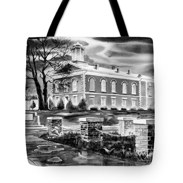 Iron County Courthouse IIi - Bw Tote Bag by Kip DeVore