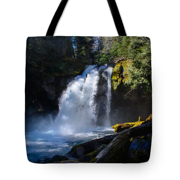 Iron Creek Falls Tote Bag by Roger Reeves  and Terrie Heslop