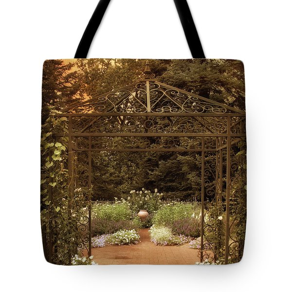 Iron Entrance Tote Bag by Jessica Jenney