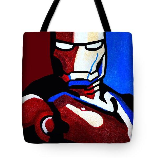 Iron Man 2 Tote Bag by Barbara McMahon