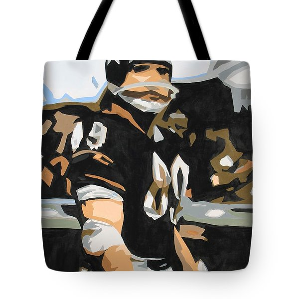 Iron Mike Ditka Tote Bag by Steven Dopka