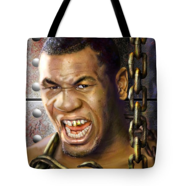 Iron Mike Tyson-no Blood No Glory 1a Tote Bag by Reggie Duffie