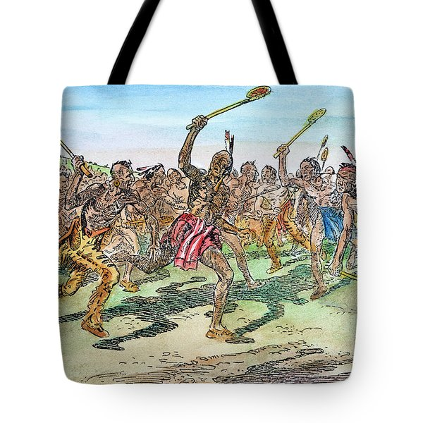 Iroquois - Lacrosse.  Tote Bag by Granger