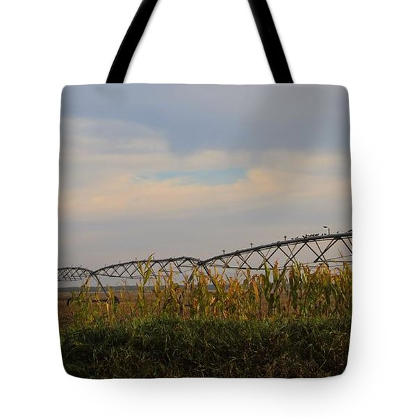 Irrigation On The Farm Tote Bag by Dan Sproul
