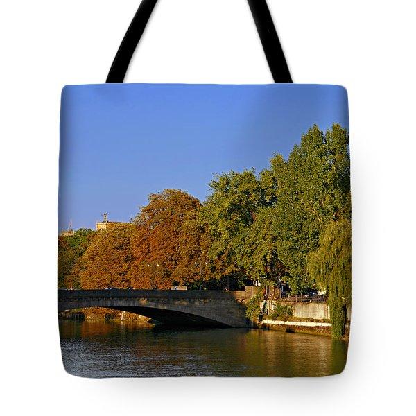 Isar River - Munich - Bavaria Tote Bag by Christine Till