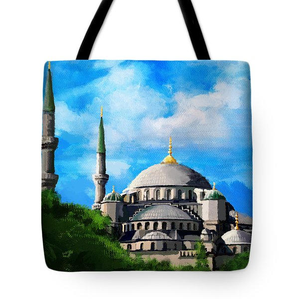 Islamic Mosque Tote Bag by Catf