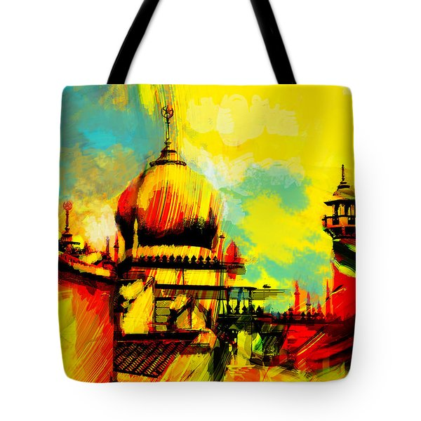 Islamic Painting 001 Tote Bag by Catf