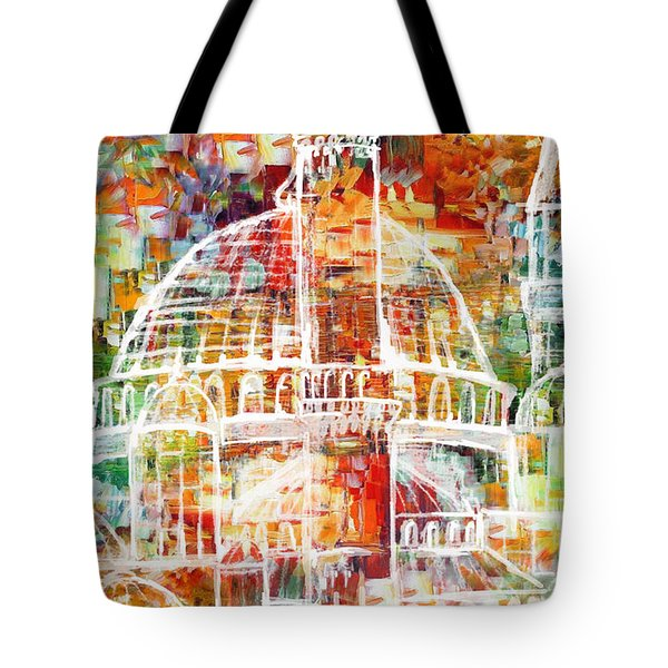 Islamic Painting 005 Tote Bag by Catf