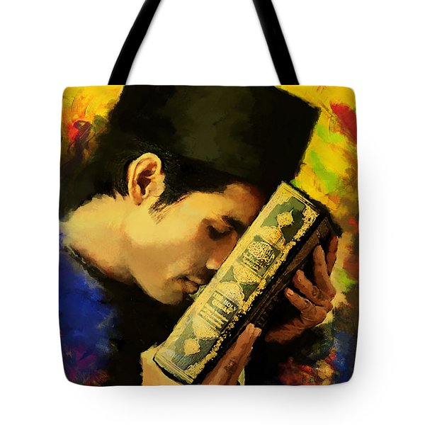 Islamic Painting 010 Tote Bag by Catf