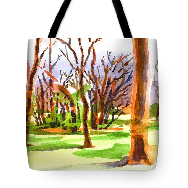 Island In The Wood Tote Bag by Kip DeVore