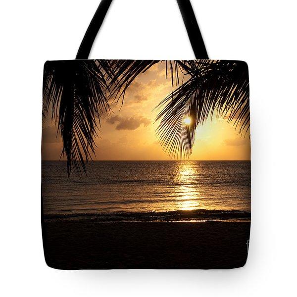 Island Sunset Tote Bag by Charles Dobbs