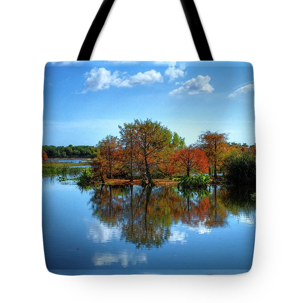Islands In The Sun Tote Bag by Debra and Dave Vanderlaan