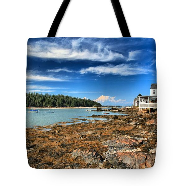 Isle au Haut House Tote Bag by Adam Jewell