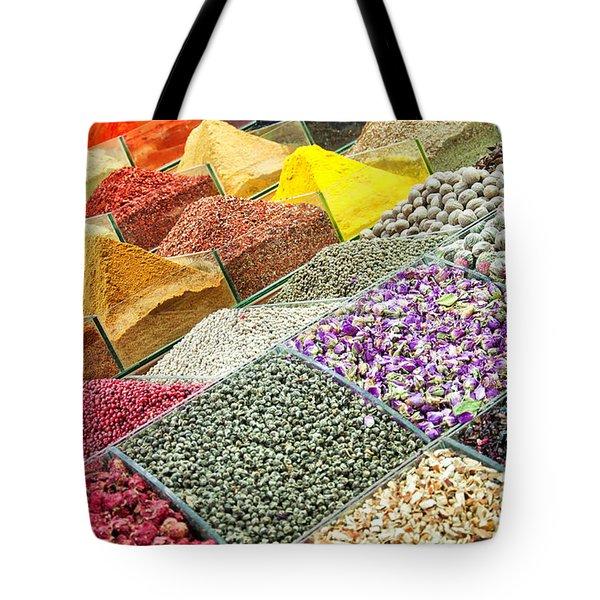 Istanbul egyptian spice market 01 Tote Bag by Antony McAulay