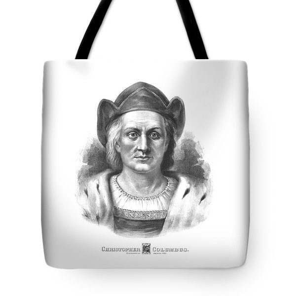 Italian Explorer Christopher Columbus Tote Bag by War Is Hell Store