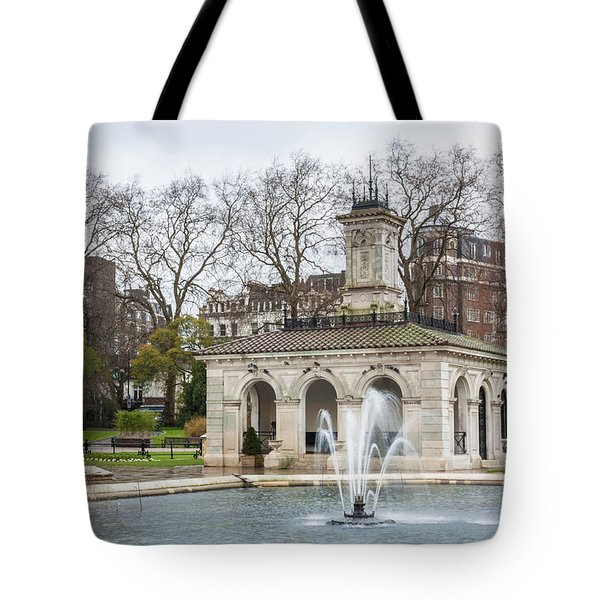 Italian Fountain In London Hyde Park Tote Bag by Semmick Photo